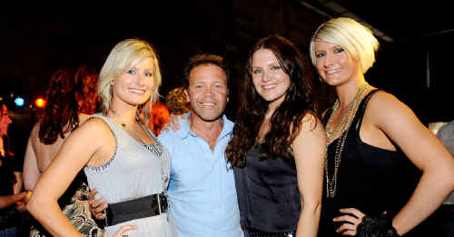 Troy Cassar-Daley with the McClymonts (left to right) Sam McClymont, Brooke McClymont and Mollie McClymont at the announcement of the finalists in the 38th Country Music Awards of Australia.