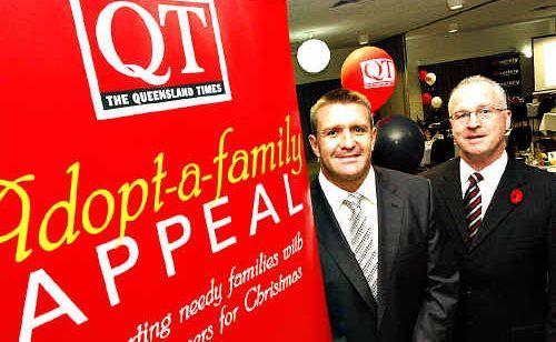 APN Australian Publishing Appeal patron Shane Webcke and APN CEO Mark Jamison launch the APN group's appeal in Brisbane.