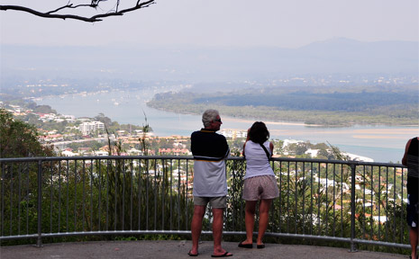 NOOSA is blanketed by smoke thanks to a wildfire at Great Sandy National Park.