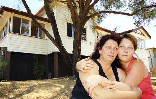 WHAT TO DO? The stressful wait to hear news about Lance Hay is taking its toll as Anna and Stacie Van Der Sterren try to renovate Lance's Maryborough house that has no plumbing or electricity. Photo: KARLEILA THOMSEN 09m373i