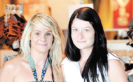 STILL SMILING: Last year's winners Tania Haynes (left) from just Jeans Mooloolaba and Natalie Massa from Sugar and Spice are encouraging people to nominate thier favourite staff for this year's awards.