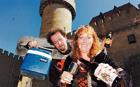 CELEBRATION: Sunshine Castle owners Stephan Uhig and Birte Benecke-Uhig outside their award winning attraction.