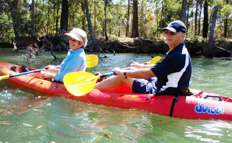 Everyone is invited to come kayaking on the Brunswick River next Sunday morning.