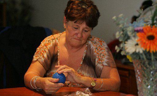 Wendy Hanbury is distraught that her Staffy, Brutus, might lose his tongue because of a faulty dog toy.