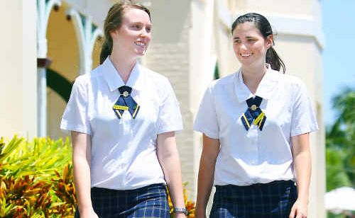 Rockhampton Girls Grammar School students Prue Bottomley and Hayley Jones contemplate their futures as they get ready to finish school.