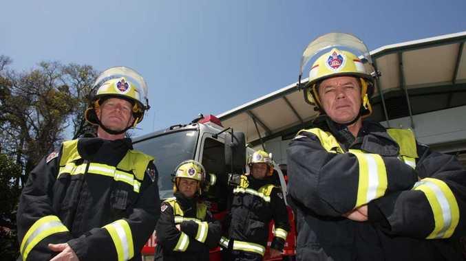 Tweed firefighters, from left, Mick Moon, Joel Kinneally, Mark Lewin and David Hardcastle