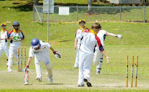 North Coast batsmen Mitchell Pearce just makes his ground.