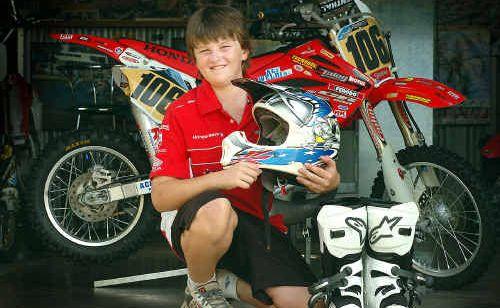 Maryborough's Bailey Jung is showing plenty of promise in his dirt track motorbike racing career.