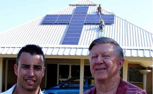 Adrian Decarli of Infinity Solar and David Lowry.