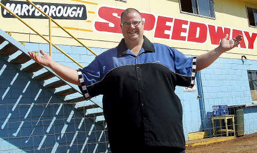 Maryborough Sporting Car Club general manager and race commentator Ryan Harris.