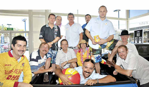 Staff at Pacific Motor Group get into the spirit of Boardies Day for Surf Life Saving Queensland.
