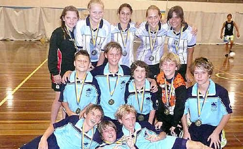 Mountain Creek State School's under-12 boys and girls futsal teams have good reason to smile.