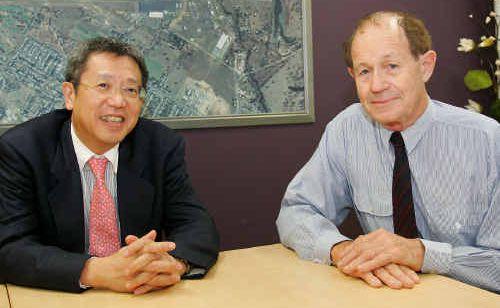 Yoshitaro Iwasaki speaks with Iwasaki Foundation chairman Hugh Grant in Rockhampton about the future direction of the foundation.