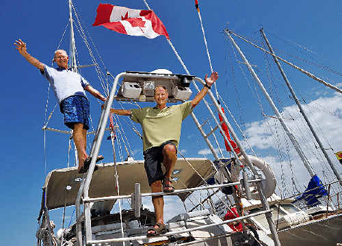 Some men grow moustaches to help raise money, but John and Doug Gayford sailed half way round the world.