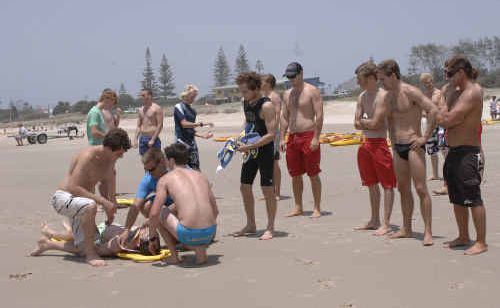 North Coast lifeguards undertaking training drills in preparation for the summer months, which attracts greater numbers to our beaches.