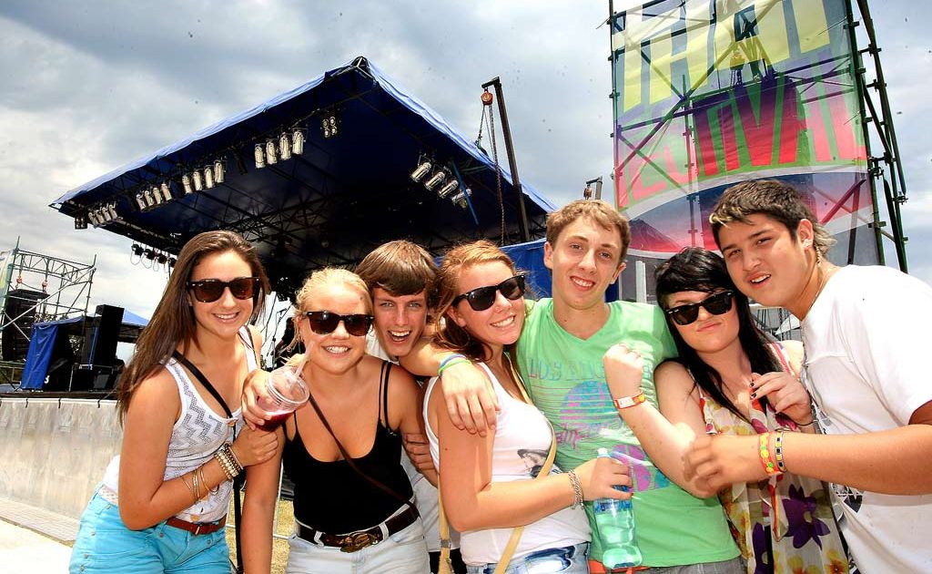 Maddy Bruce, Chris Harrington, Tiarne Coleman, Kane Solly, Jesse Huston and Anthony Maciel at That Festival.
