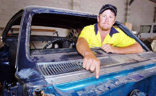 Maryborough's Brad Watson is offering a reward for the return of the compliance plates for the 1971 Holden Monaro he is restoring.