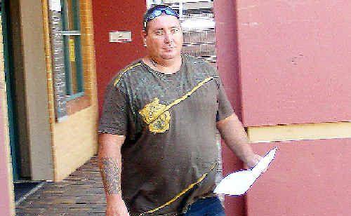 Jason Swain leaves the Lismore Court House.
