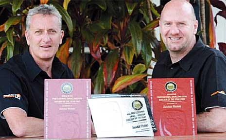 Ausmar Homes directors Tony Bryan (left) and Tim Hendy.