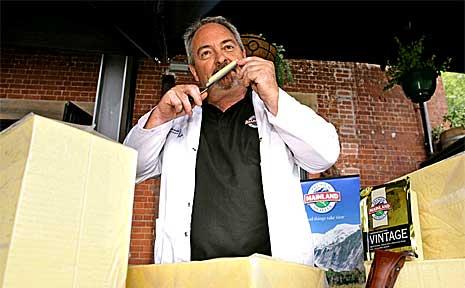 Cheese connoisseur Peter Sinclair.