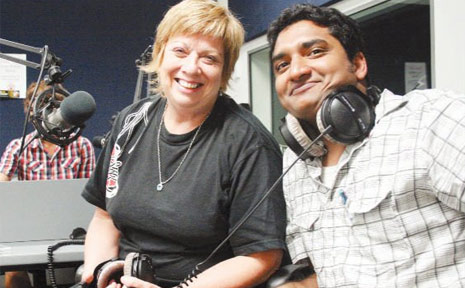 CREATING AWARENESS: Wesley Mission Brisbane's Fiona Ware chats to USQ BAM student Vinod Eda about bullying.