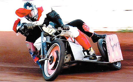 LEGAL BATTLE: Hatton Vale speedway rider Bob Phippen is seeking compensation after slamming his bike into a fence at a speedway event.