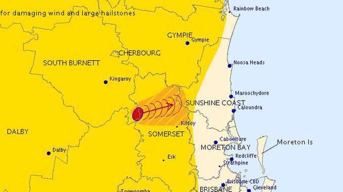 Bureau of Meteorology  storm prediction for the Sunshine Coast