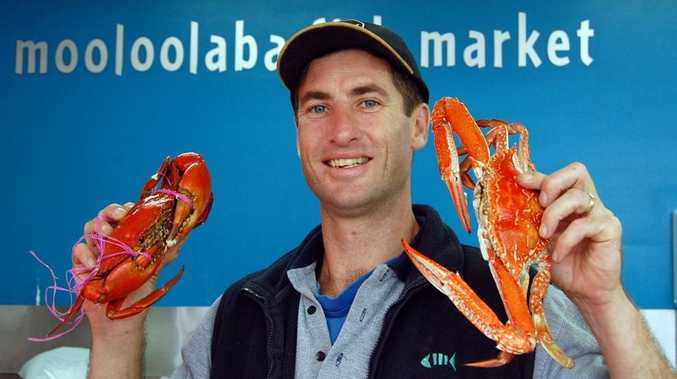 Mooloolaba Fish Market's Kristian Penny says at around $20.00 per kilogram the local sandcrabs are great value for Christmas.