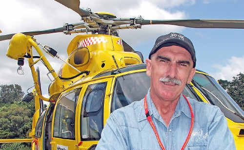 John 'Shippa' Hoye unexpectedly needed the help of the Life Saver Rescue Helicopter recently whilst in the process of organising a fundraiser for them.