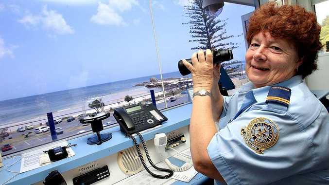 Karen Clarke, nominee for Volunteer of the Year doing her thing at Currumbin VMR.