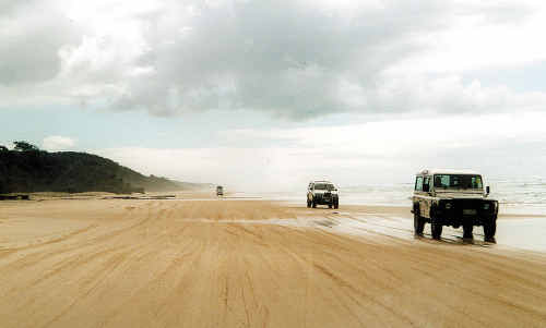 4WD touring on Fraser Island.