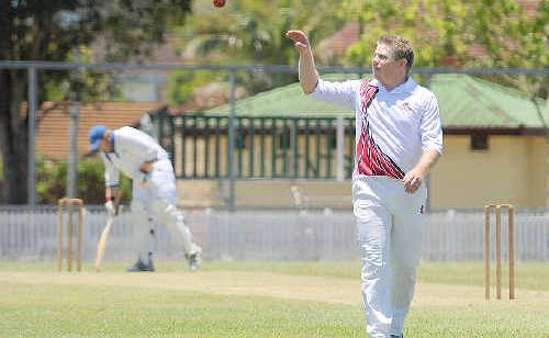 Country Wests Tony Quinn walking back from a great spell of bowling.