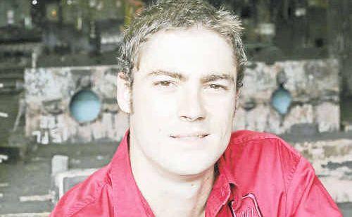Queensland Moulding Apprentice of the Year Matt Davies back in the Bundaberg Metal Industries foundry.