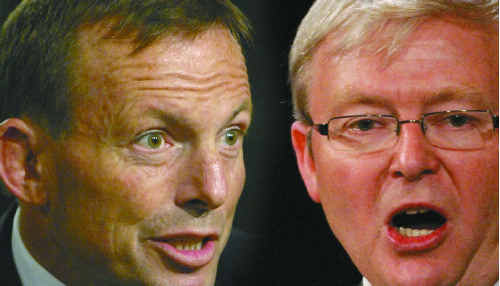 Liberal leader Tony Abbott has challenged Prime Minister Kevin Rudd to a debate on climate change.
