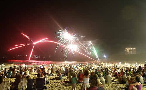 New Year's Eve fireworks drew a big crowd at last year's celebrations at Mooloolaba beach.