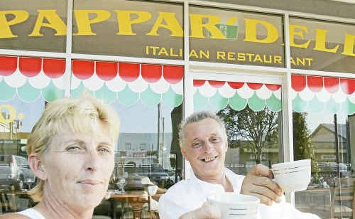 Owners of Pappa'Delles Italian Restaurant, Ralph and Karon Reali, opened on Monday night to a full house.