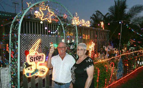 Brian and Shirley Nicolson won the most Energy Efficient category and came third for Best Residence in this year's Christmas lights competition.