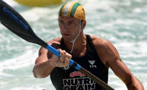 Hugh Dougherty in action at the Nutri-Grain ironman trials.