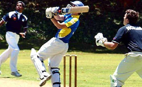 SCU skipper Josh Mapstone hits out at a match in Perth this week.
