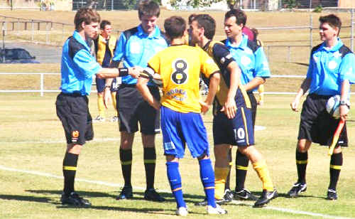 Luke Mackney prepares to referee on the Gold Coast at the weekend.