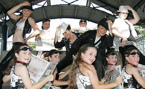 The TNT Dance Studio rehearse for the Bundaberg Pageant of Lights.