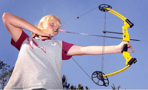Maryborough's Kersten Knudsen won a state archery title this year.