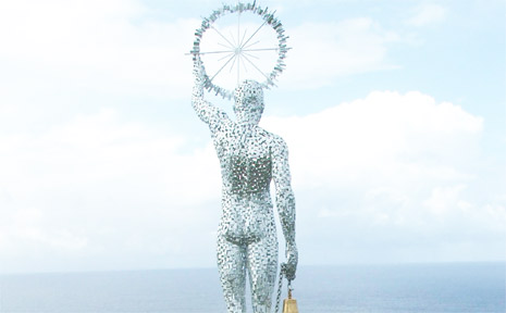 One of the sculptures featured in the 2005 Artscape exhibition at Cape Byron.
