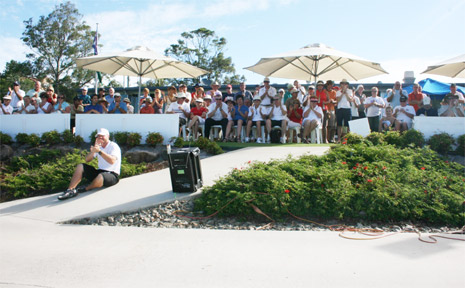 A section of the big crowd that watched the final round of last year's championship at Byron Bay Golf Club.
