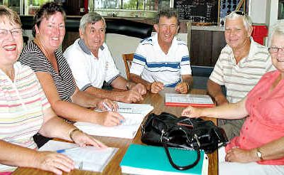 Members of the Golf Central Queensland steering committee (from left) are Nola Taylor, Donna Reynolds, Ron Murphy, Robert Carswell and Elaine Jones.