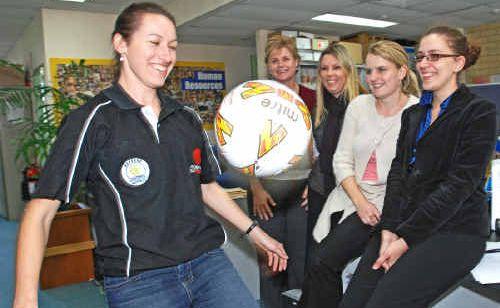 Tanya de Boer (left) will officiate in soccer's W-League semi-finals this weekend.