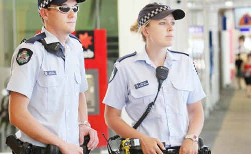 Constables Chris Hayes and Melissa Wilson are ready to patrol the CBD in Rockhampton for Operation Unite in a crackdown on alcohol related crime from tonight.