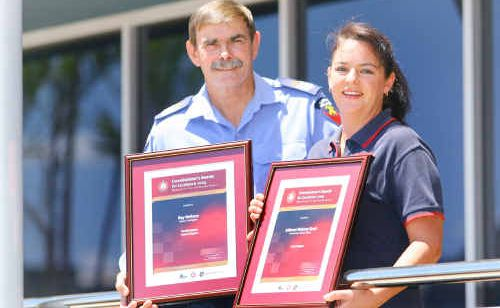 Queensland Fire and Rescue Service's Ray Neilsen and Julianne Webster-Scott were recognised for their commitment and dedication.