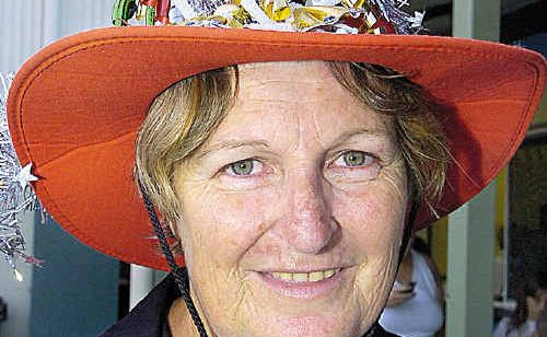 Howard's Sharon Menchin shows off her hat fashion at last year's event.