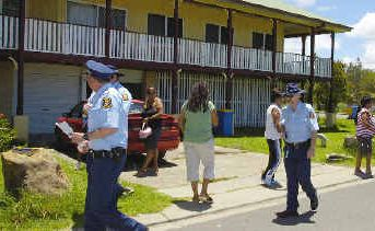 The first moves are made by the authorities to evict families at Cabbage Tree Island.